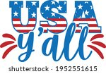 usa y'all   4th of july design | Shutterstock .eps vector #1952551615