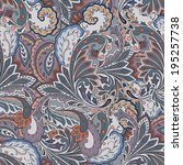 Colorful paisley seamless background