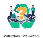 automobile engineers working... | Shutterstock .eps vector #1952605978