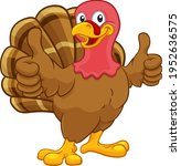 turkey thanksgiving or... | Shutterstock .eps vector #1952636575