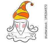 figure head pierrot. | Shutterstock . vector #195264572