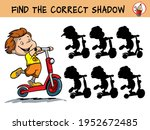 child riding a scooter. find... | Shutterstock .eps vector #1952672485