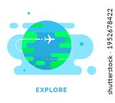 air plane  earth  explore app...
