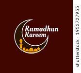 ramadhan kareem design with... | Shutterstock .eps vector #1952727955