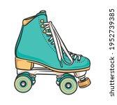 roller skate style fun sport | Shutterstock .eps vector #1952739385