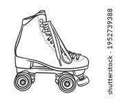 roller skate style lineart... | Shutterstock .eps vector #1952739388