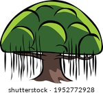 banyan tree doodle isolated on... | Shutterstock .eps vector #1952772928