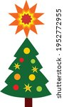 christmas tree with star vector ... | Shutterstock .eps vector #1952772955