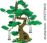 fairy home cartoon tree... | Shutterstock .eps vector #1952773015
