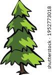 elegant pine tree illustration... | Shutterstock .eps vector #1952773018