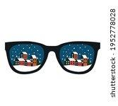 winter landscape with glasses... | Shutterstock .eps vector #1952778028