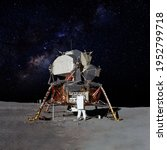 Astronaut On Moon  Lunar ...