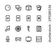 thin line icons for leisure.