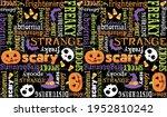 halloween seamless vector... | Shutterstock .eps vector #1952810242