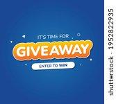 giveaway alert  quiz  door...   Shutterstock .eps vector #1952822935
