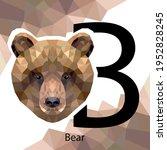b letter animals set. english... | Shutterstock .eps vector #1952828245