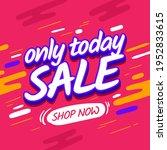 square banner sale design. pink ... | Shutterstock .eps vector #1952833615