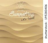 vector sand summer travel... | Shutterstock .eps vector #195283406