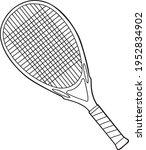 tennis racket line vector... | Shutterstock .eps vector #1952834902