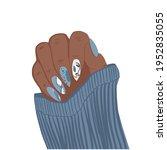 vector beautiful woman hands... | Shutterstock .eps vector #1952835055