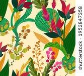 abstract floral pattern. garden ...   Shutterstock .eps vector #1952847358