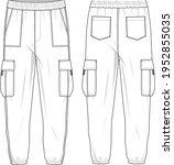 unisex high waisted  side... | Shutterstock .eps vector #1952855035