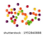 Heap Of Colored Round Dragee...