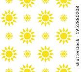 sun emblem tribal symbol yellow ... | Shutterstock .eps vector #1952880208