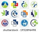 health medical logo template... | Shutterstock .eps vector #1952896498
