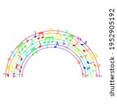 rainbow music notes  colorful... | Shutterstock .eps vector #1952905192