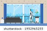 cleaning robot control by human ... | Shutterstock .eps vector #1952965255
