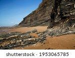 Rugged Rocky Beach Coastline...