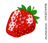 red ripe strawberries  summer... | Shutterstock .eps vector #1953074998