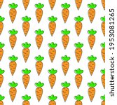 carrot. seamless pattern for... | Shutterstock .eps vector #1953081265