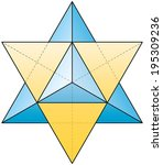 merkabah   star tetrahedron  ... | Shutterstock .eps vector #195309236
