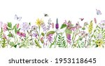 Watercolor Seamless Border With ...
