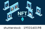 concept of nft  non fungible... | Shutterstock .eps vector #1953160198