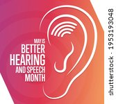 may is better hearing and... | Shutterstock .eps vector #1953193048