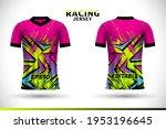 sports racing jersey design.... | Shutterstock .eps vector #1953196645