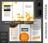 digital vector brochure... | Shutterstock .eps vector #195320336