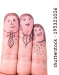 fingers family of man  woman... | Shutterstock . vector #195321026