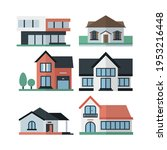 house collection. modern...   Shutterstock .eps vector #1953216448