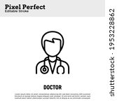 doctor with stethoscope thin... | Shutterstock .eps vector #1953228862