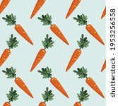 seamless pattern with carrots  ...   Shutterstock .eps vector #1953256558