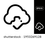 cloud download vector stylish...