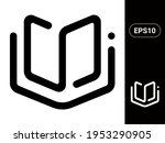 book vector stylish line icon...