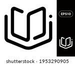 book vector stylish line icon...