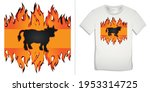 graphic design of cow bbq and... | Shutterstock . vector #1953314725