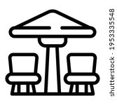 patio furniture icon. outline...   Shutterstock .eps vector #1953335548