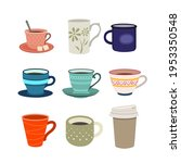 set of color illustrations with ... | Shutterstock .eps vector #1953350548